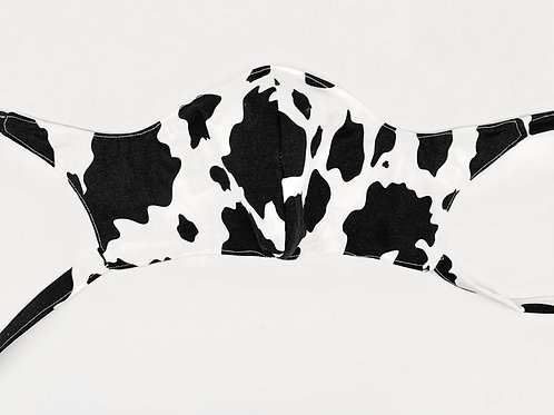 Hand Made Mask-Cow Print