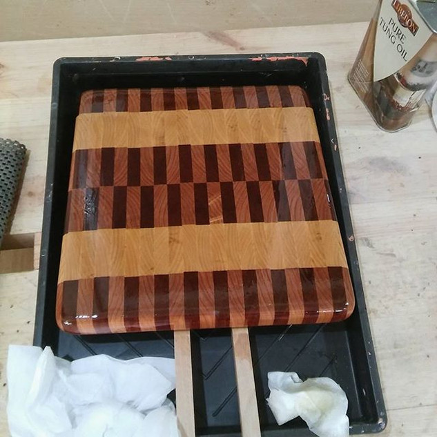 The board has been in the tung oil for 2