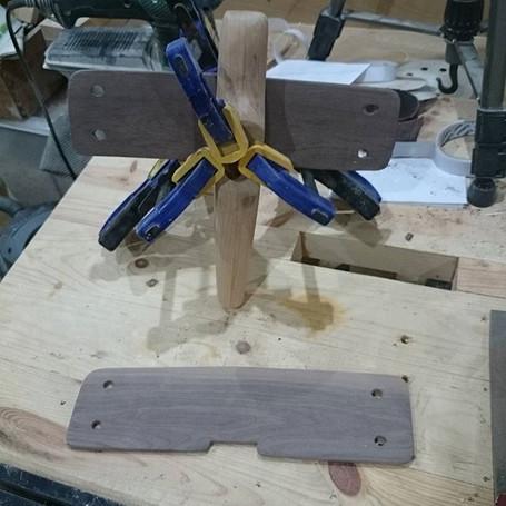 Wing glued on #woodworking.jpg