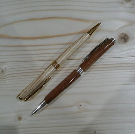 Two finished pens, they look great. One