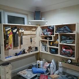 Completed tool storage #toolstorage #woo