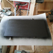 Painted the mdf black for the lap table