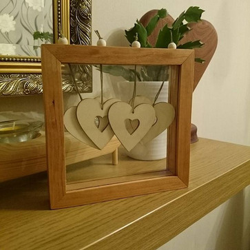 The finished frame #woodworking.jpg