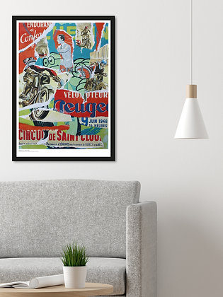 Motorbike billboard – Framed A3