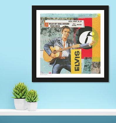 Elvis – Framed 300mm square