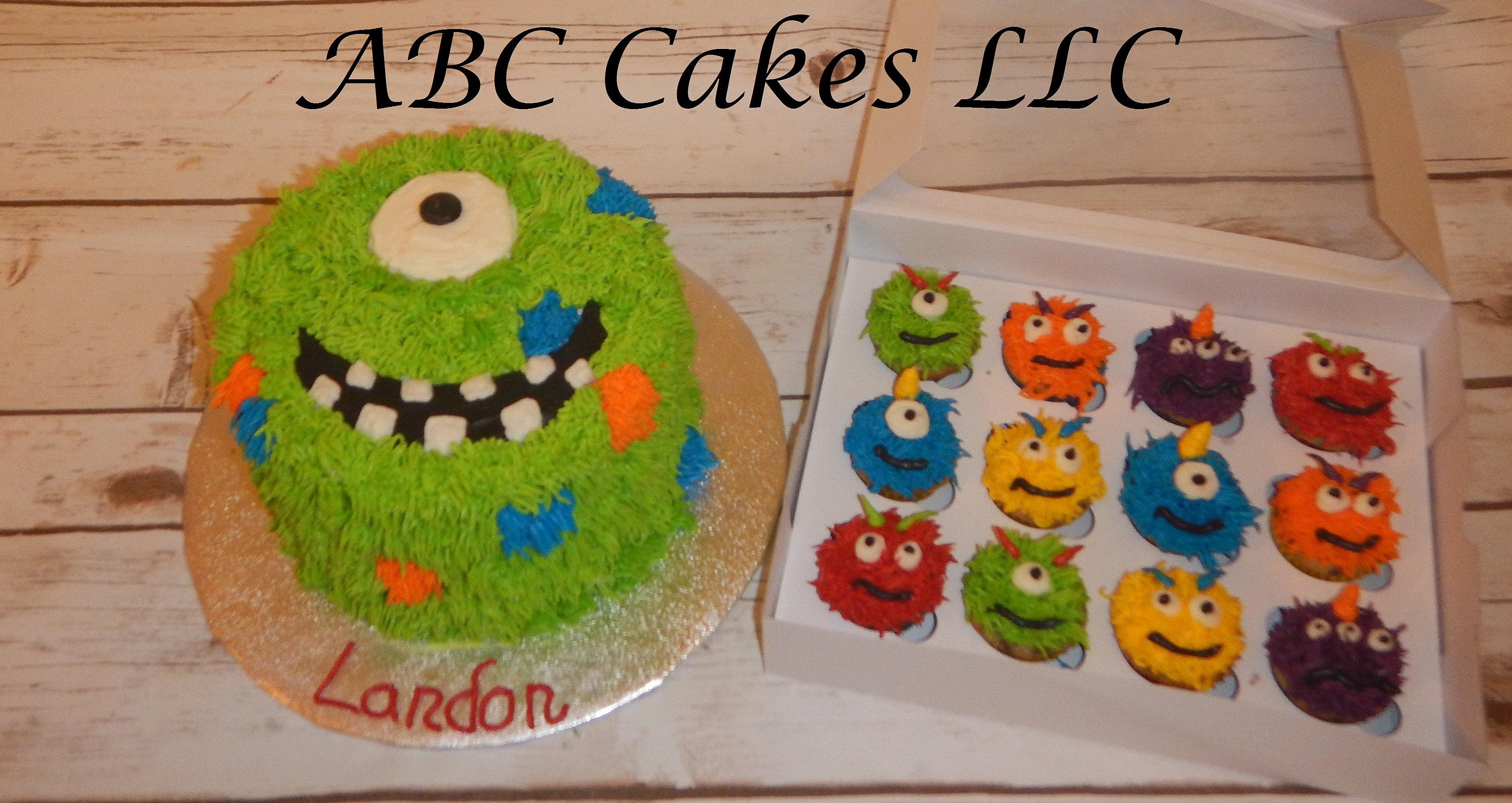 abc cakes llc colorado custom cakes birthday wedding monster smash cake and mini cupcakes - Abc Cake Decorating
