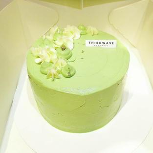 Spring Matcha Cake