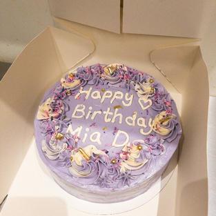 Purple Vanilla Cake