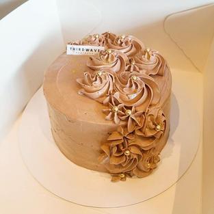 Golden Flower Chocolate Cake