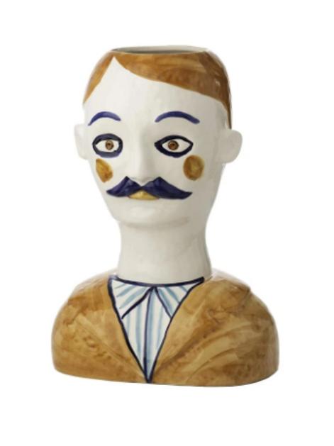 Pierre Painted Head Vase
