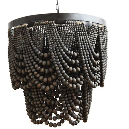Black Bead Chandelier