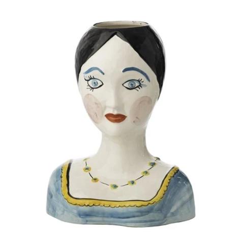 Simone Painted Head Vase