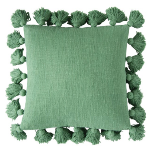 Tassel Me Green Pillow
