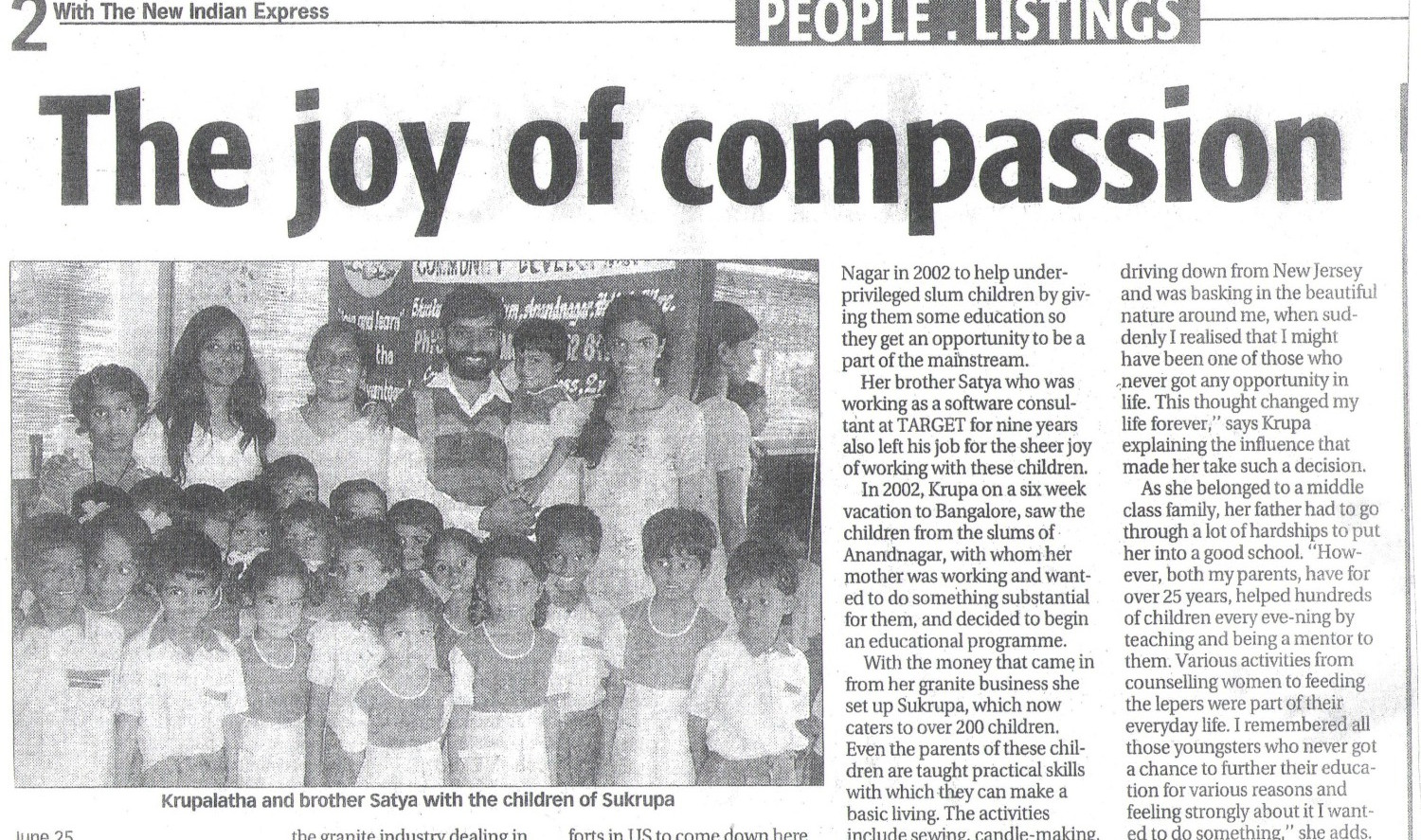 Indian Express, 26th June, 2007