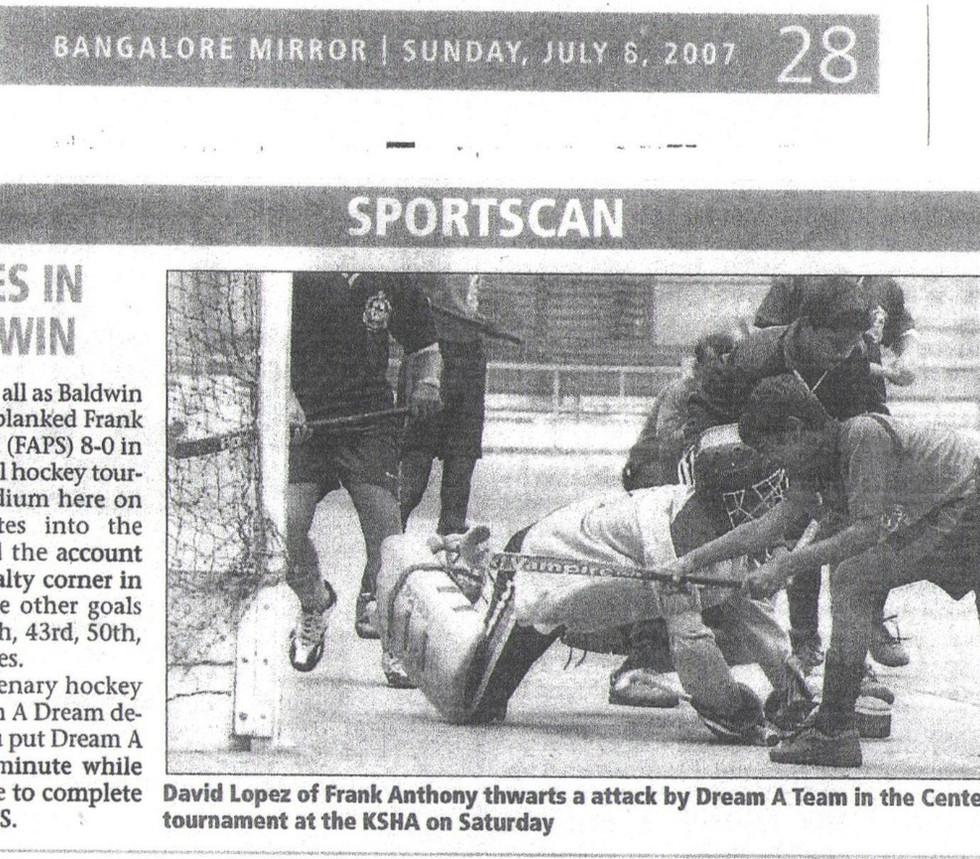 Bangalore Mirror, 6th July, 2007