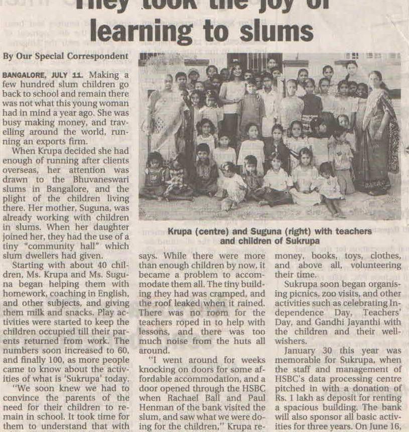 The Hindu, 12th July, 2003