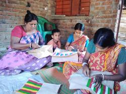 Women making handicrafts