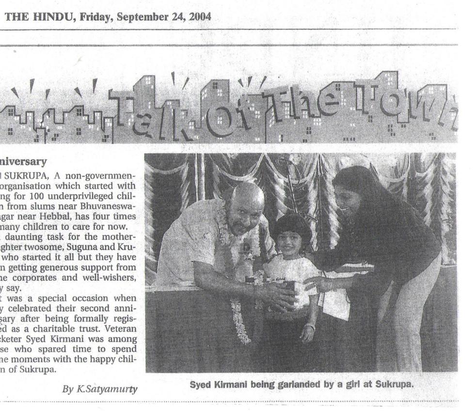 The Hindu, 24th September, 2004
