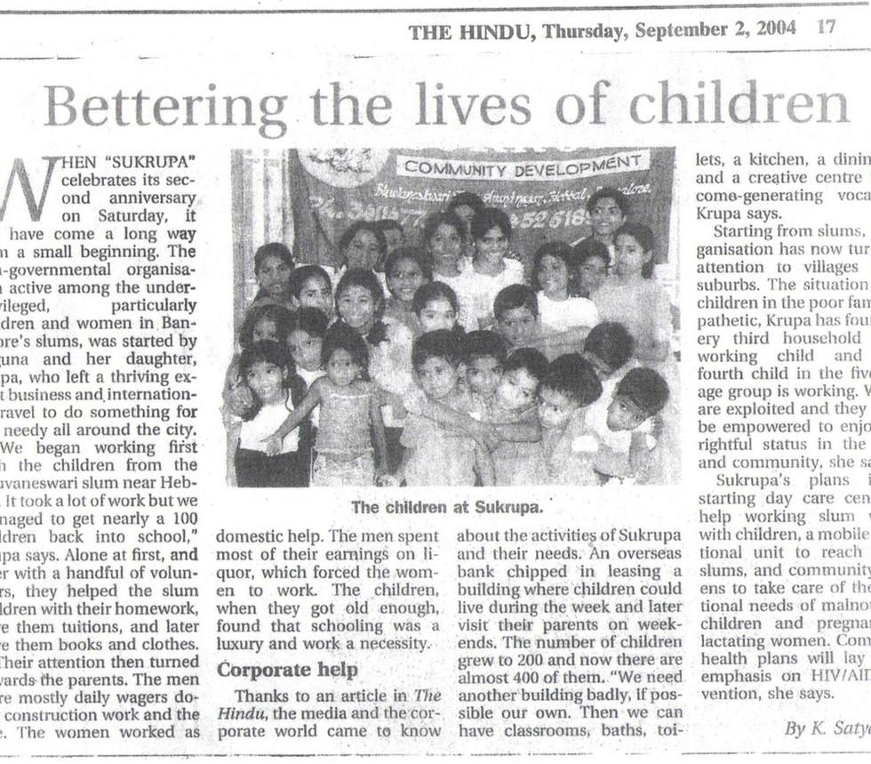 The Hindu, 2nd September, 2004