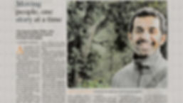 Philip John, Labyrinths author, featured in The Hindu