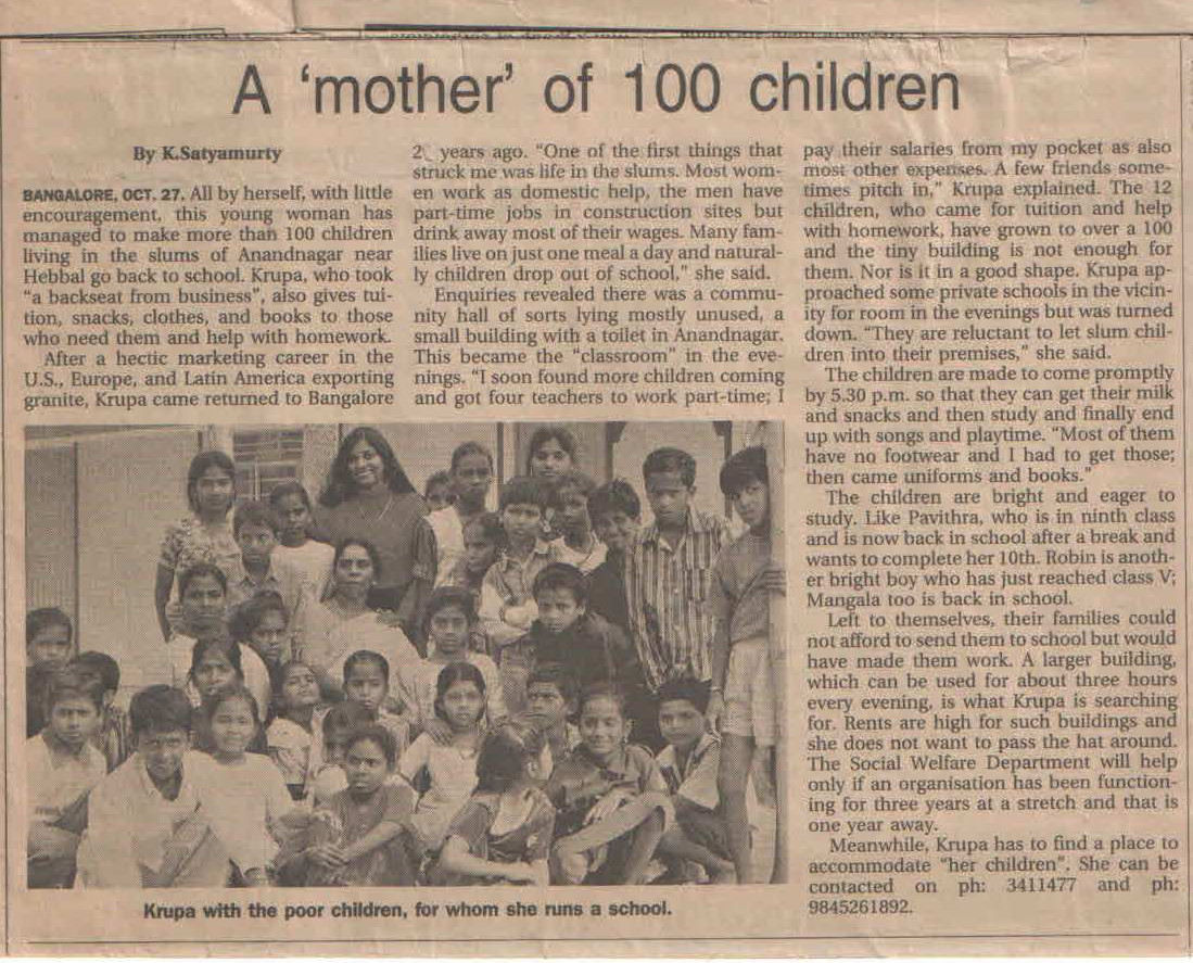 Times of India, 28th October, 2002