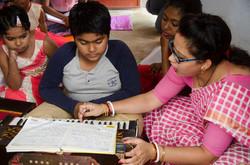 Teaching at Chanda Village School