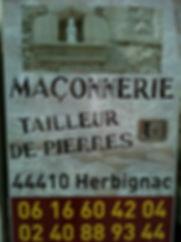 Maconnerie Tailleur de pierre Crusson Stephane Herbignac  44410