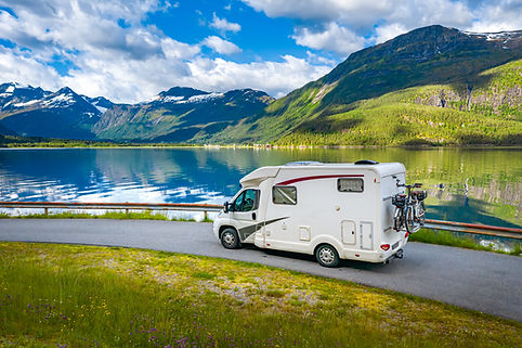 Family vacation travel RV, holiday trip
