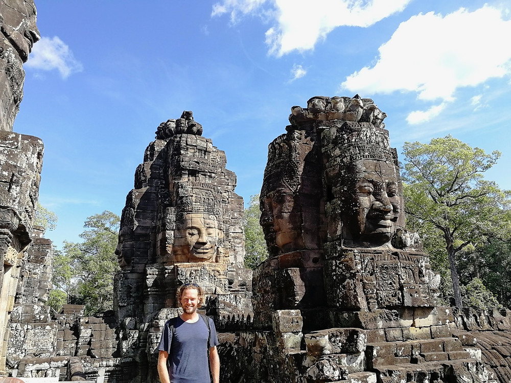 Tour du monde à vélo en famille Angkor Bayon