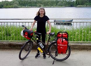 Célia Rouyer et son vélo