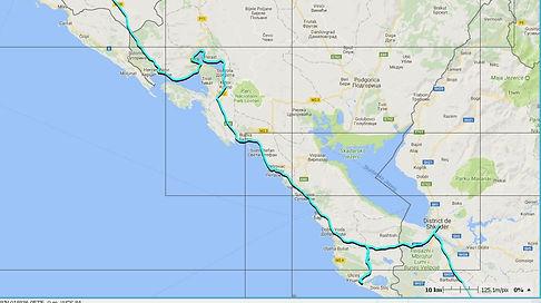 Tour du monde à vélo en famille itinéraire Montenegro