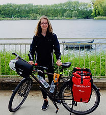 Maëlle Rouyer et son vélo