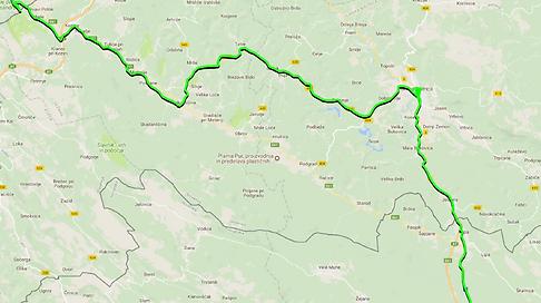 Tour du monde à vélo en famille - Trajet itinéraire Slovénie