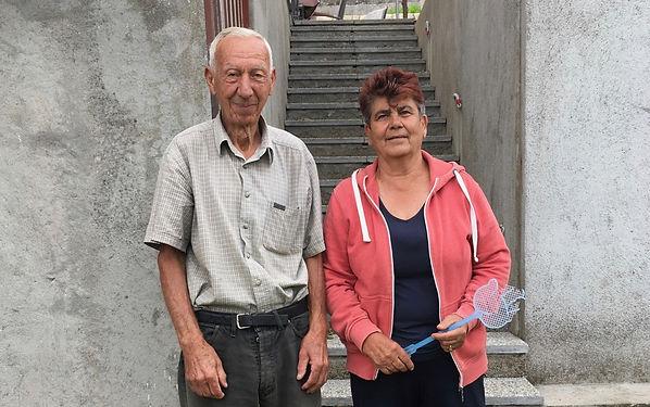 """Intendants du logement que nous occupons à Cavoglave, le contact est immédiatement chaleureux même si nous ne parlons aucune langue commune, chacun travaille son """"expressivité""""!"""