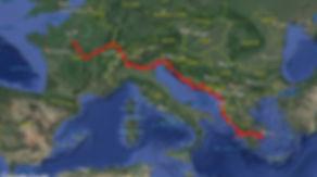 Tour du monde à vélo en famille 2018 : trajet Europe de Nantes à Athènes. France Italie Slovénie Suisse Croatie Bosnie Montenegro Albanie Grèce