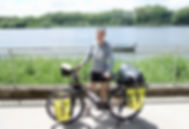 Léna Rouyer et son vélo