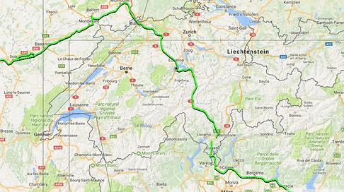 Tour du monde à vélo en famille - Trajet Suisse