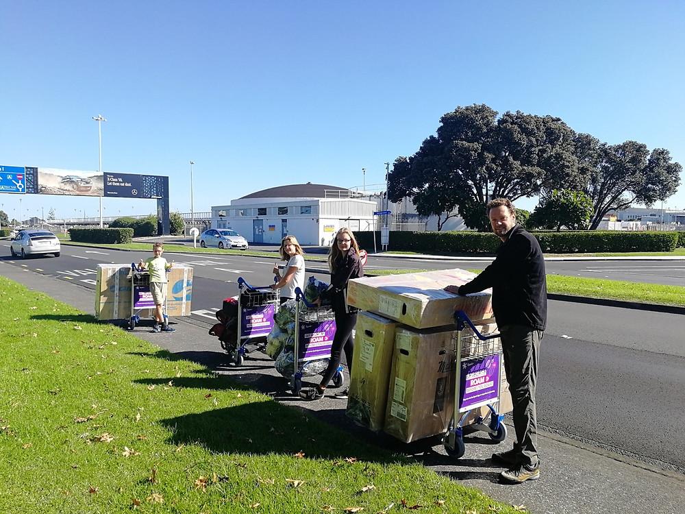 Tour du monde à vélo en famille : Auckland