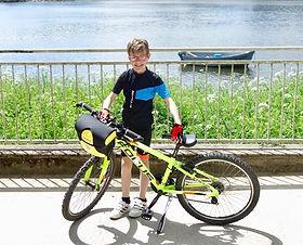 Maxime Rouyer et son vélo