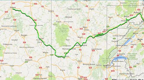 Tour du monde à vélo en famille - Trajet France