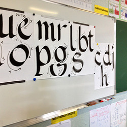 Découvrir la Calligraphie en CM1