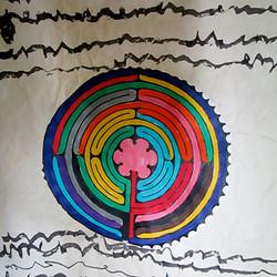 Une artiste à l'école