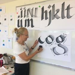 Calligraphie au collège de Brioux