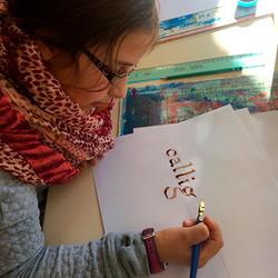 Un artiste à l'école