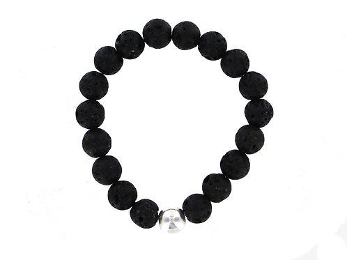 Men's Lava stone elasticated bracelet