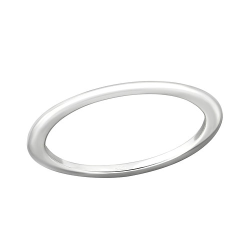 Sterling silver thick ring