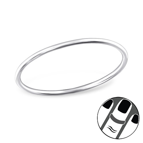 Sterling silver plain midi ring