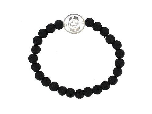 6mm Lava Stone elasticated beaded bracelet