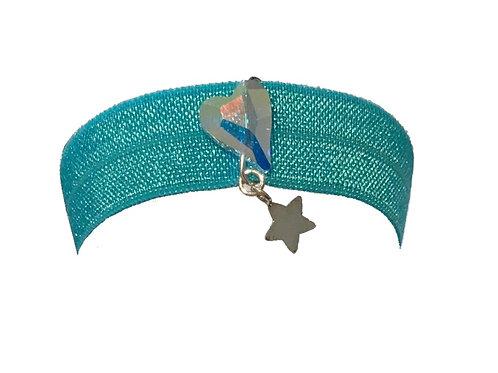 Festival wristband with genuine Swarovski heart bead