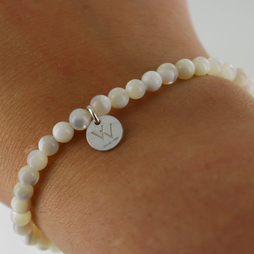 Mother of Pearl semi precious bracelet